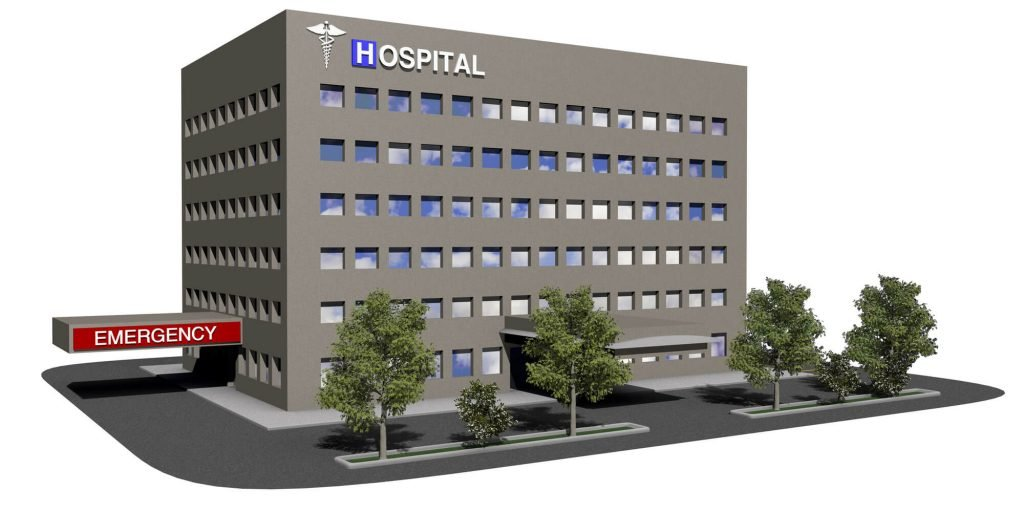 image of a hospital building