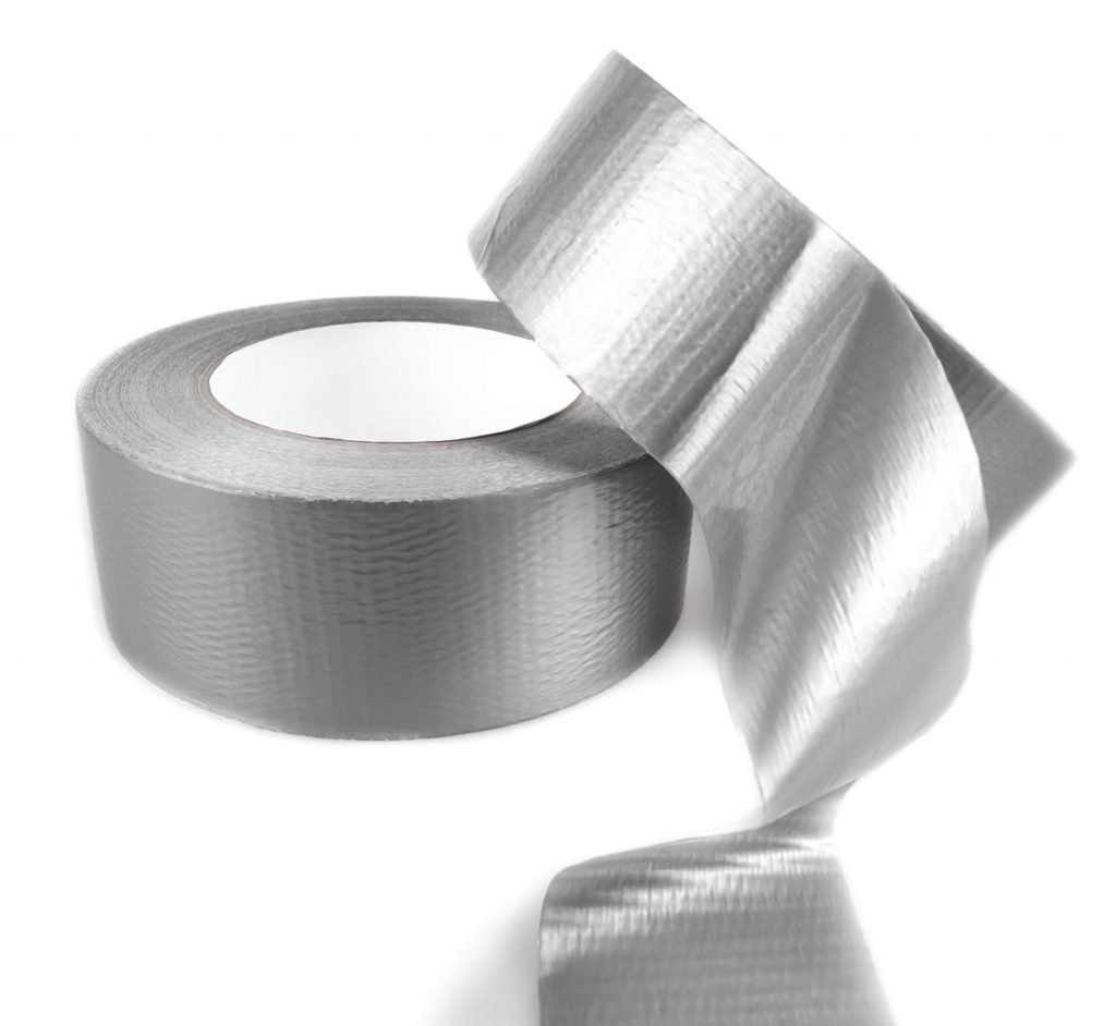 a picture of duct tape to use for tips for traveling with babies and young kids