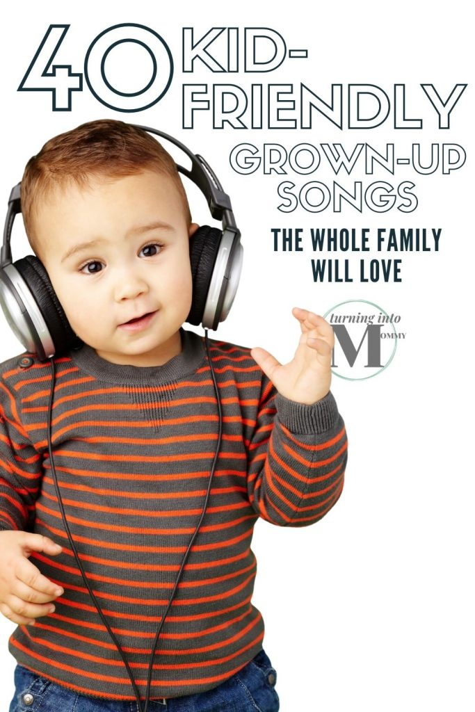 Toddler enjoying kid friendly adult music