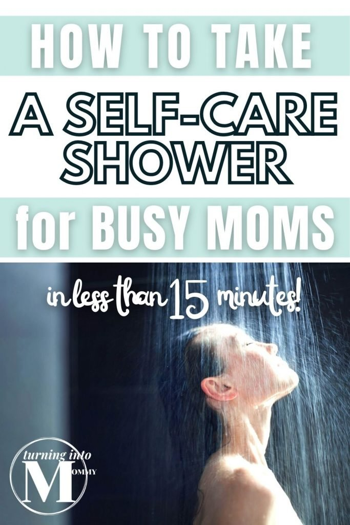Pin for How to Take a Self-Care Shower